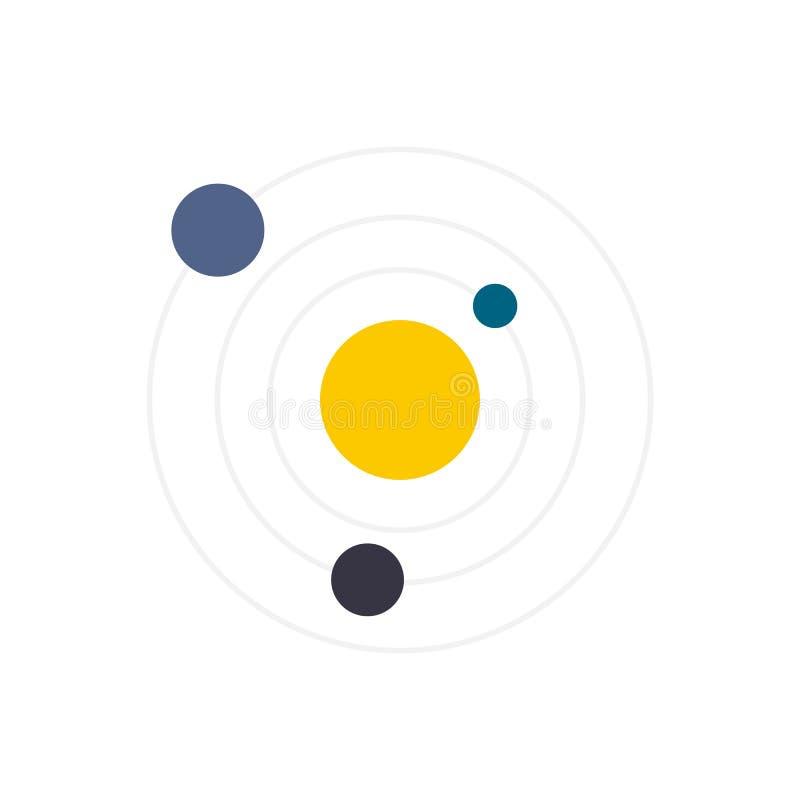 Ícone liso do sistema solar ilustração do vetor
