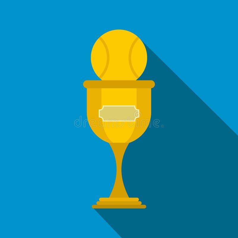 Ícone liso do troféu do basebol ilustração stock