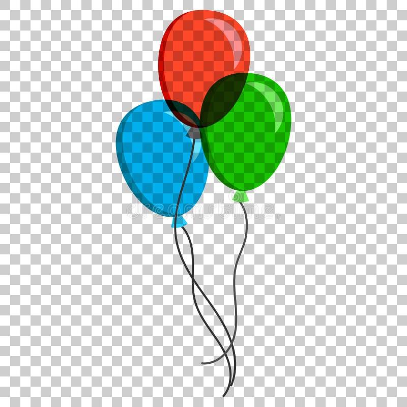 Ícone liso do vetor do balão de ar A ilustração do baloon do aniversário está ligada ilustração do vetor