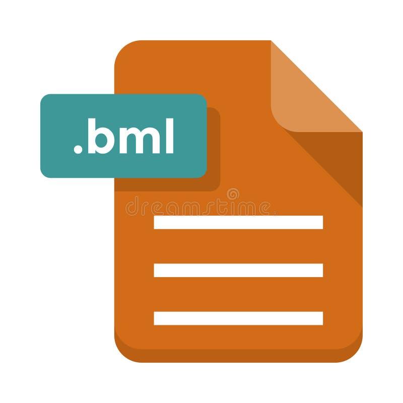 Ícone liso do vetor do bml do arquivo ilustração do vetor