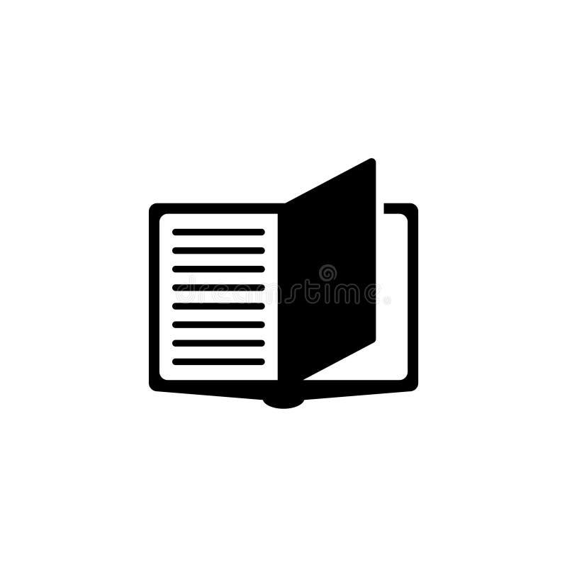 Ícone liso do vetor do caderno ilustração royalty free