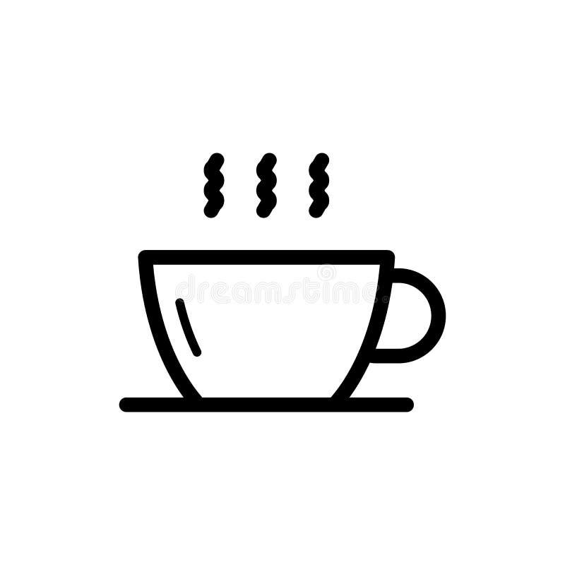 Ícone liso do vetor do copo de café no fundo branco para o projeto gráfico, logotipo, site, meio social, app móvel, illustratio ilustração do vetor