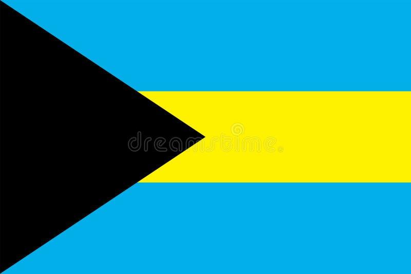 Ícone liso do vetor da bandeira do Bahamas ilustração stock