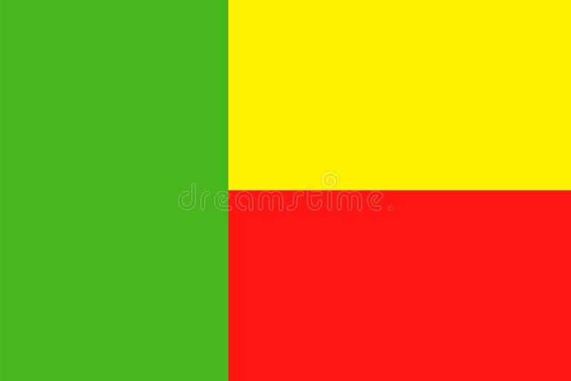 Ícone liso do vetor da bandeira de Benin ilustração stock