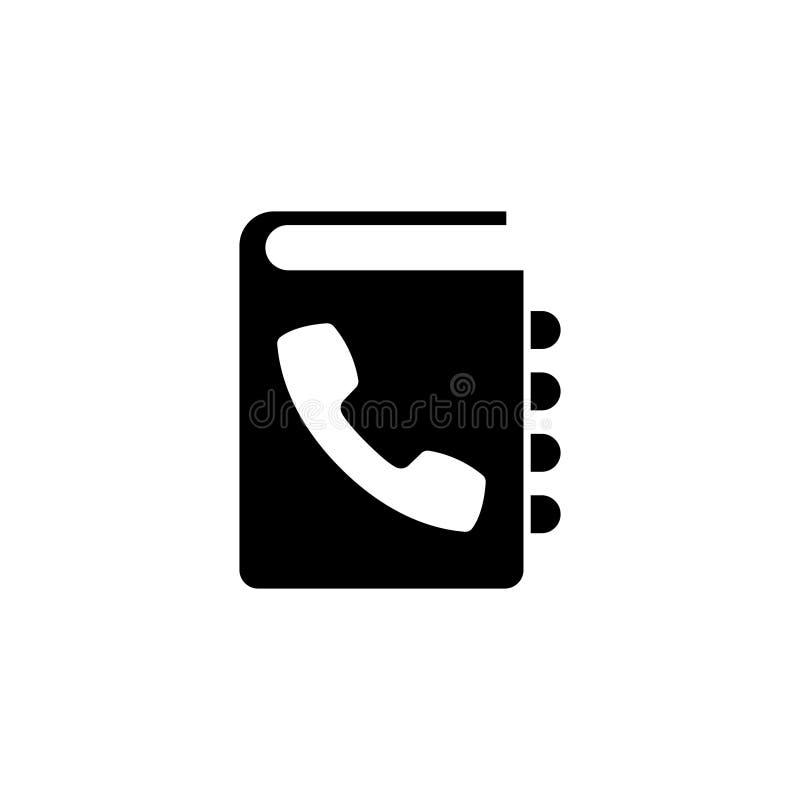 Ícone liso do vetor da lista telefônica ilustração stock