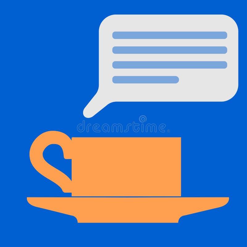 Ícone liso do vetor do copo de café ilustração stock