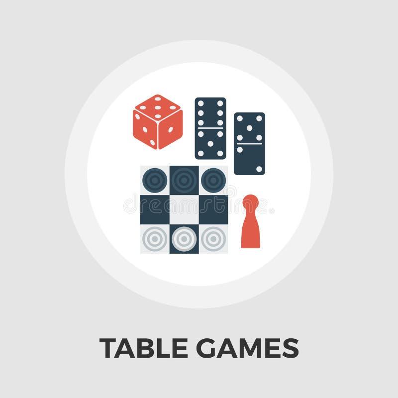 Ícone liso do vetor dos jogos de tabela ilustração do vetor