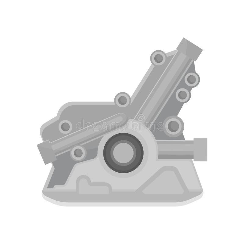 Ícone liso do vetor do motor automotivo Motor do veículo Peça do carro Elemento para anunciar a bandeira da reparação de automóve ilustração do vetor