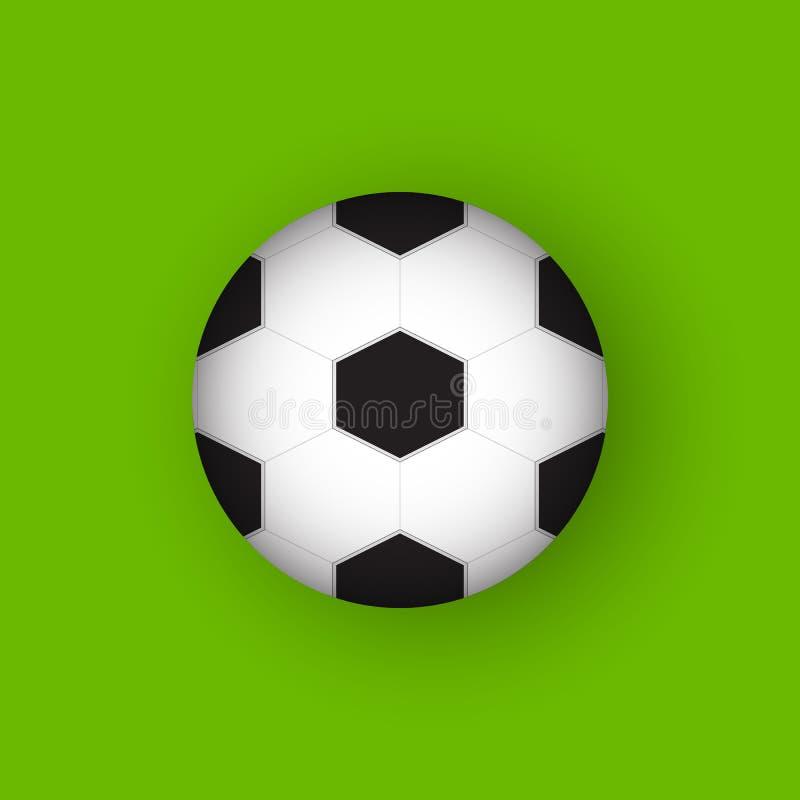 Ícone liso do vetor do projeto do futebol 3D ilustração stock