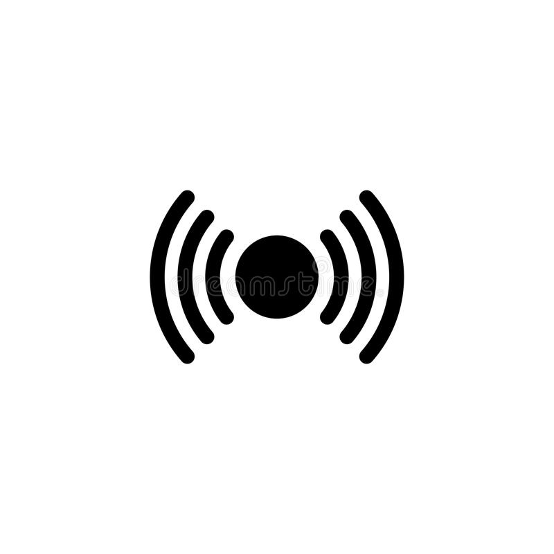 Ícone liso do vetor do sinal ilustração royalty free