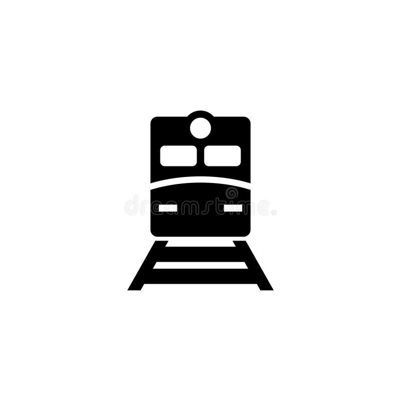 Ícone liso do vetor do trem do metro ilustração do vetor