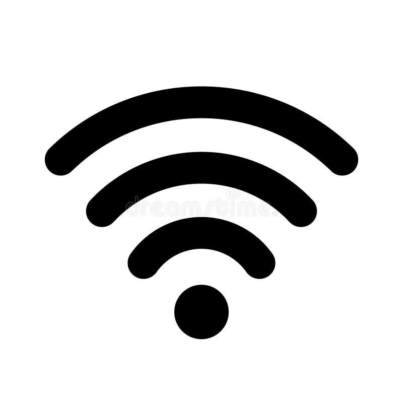 Ícone liso do wifi para o projeto de relação ilustração do vetor