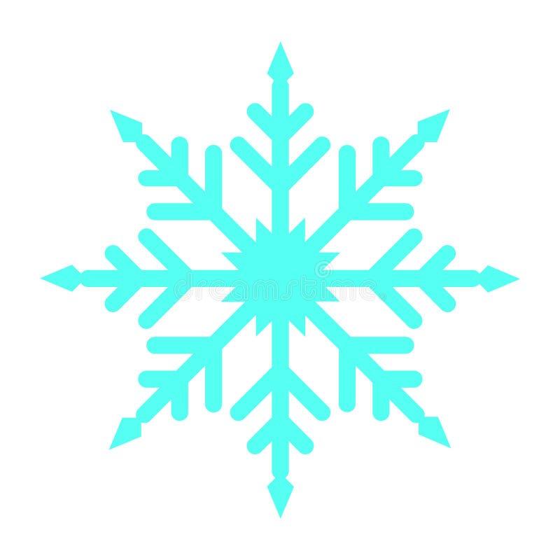 Ícone liso dos flocos da neve da cor ilustração royalty free