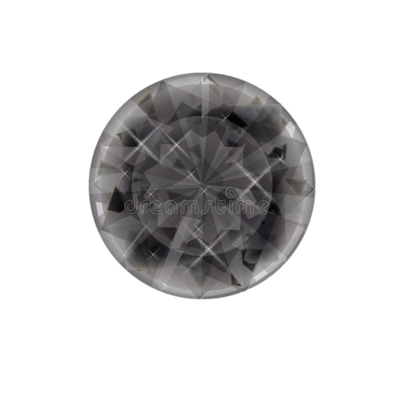 Ícone liso isolado da joia no fundo Símbolo do diamante Símbolo de pedra preciosa ilustração stock