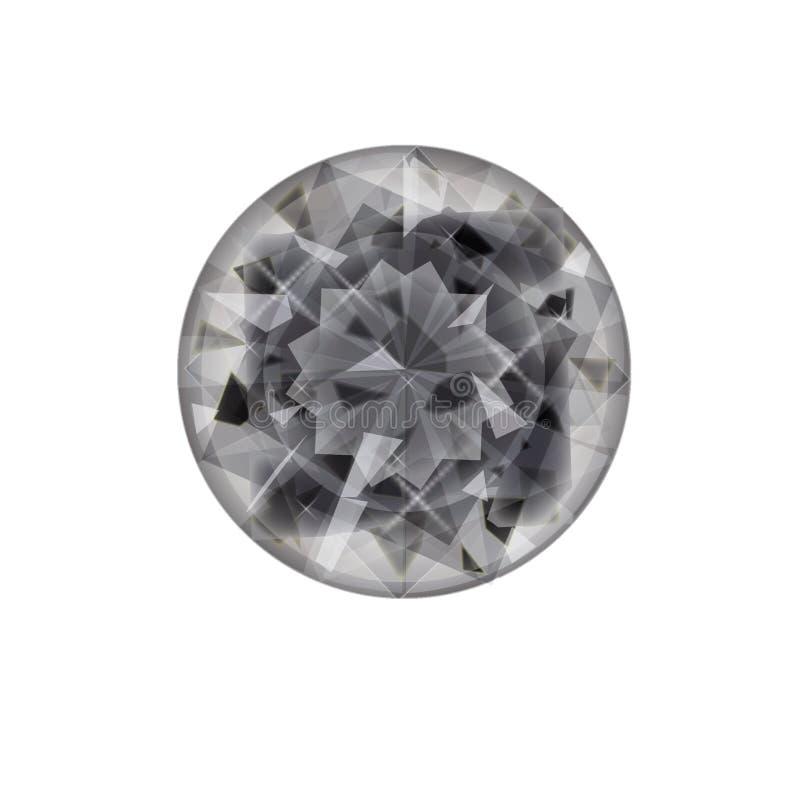 Ícone liso isolado da joia no fundo Símbolo do diamante Símbolo de pedra preciosa ilustração do vetor