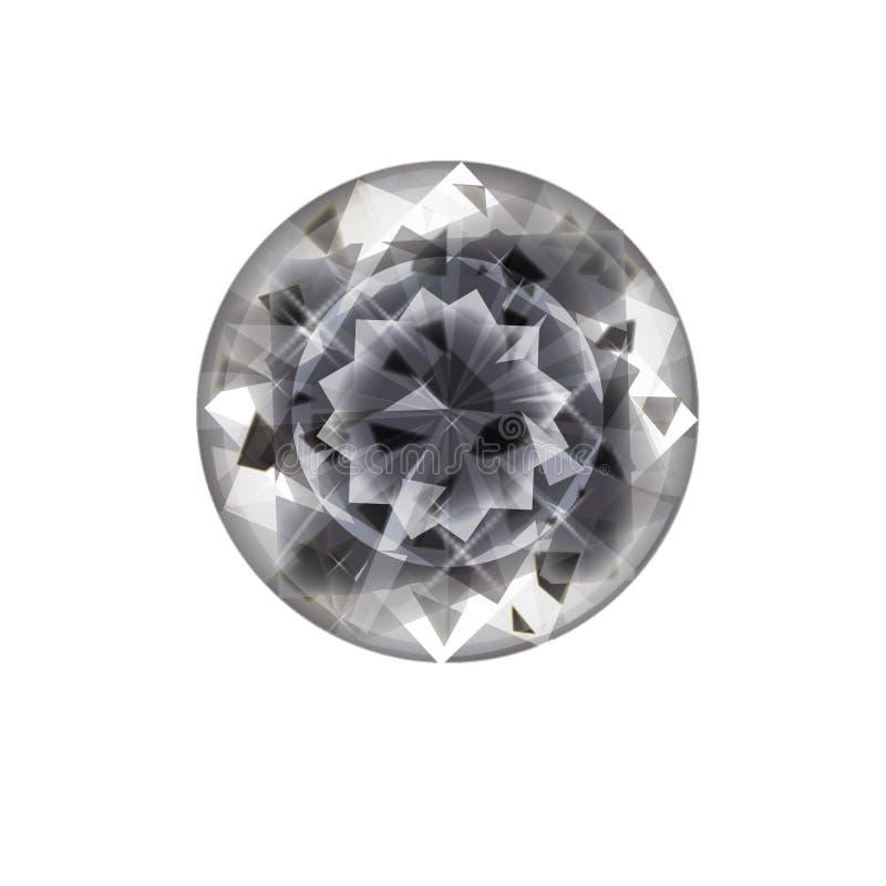 Ícone liso isolado da joia no fundo Símbolo do diamante Símbolo de pedra preciosa ilustração royalty free