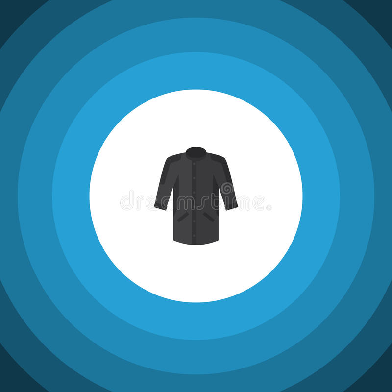 Ícone liso isolado do quimono O elemento uniforme do vetor pode ser usado para o quimono, uniforme, conceito de projeto da roupa ilustração royalty free