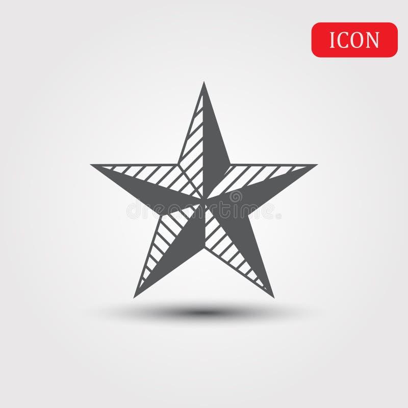 Ícone liso isolado estrela do móbil da Web ilustração stock