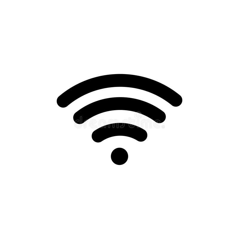 Ícone liso livre do vetor de WiFi ilustração do vetor