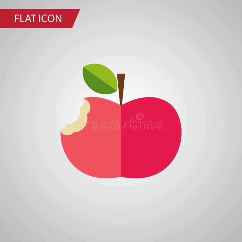 Ícone liso mordido O elemento comido do vetor pode ser usado para mordido, comido, conceito de projeto de Apple ilustração stock
