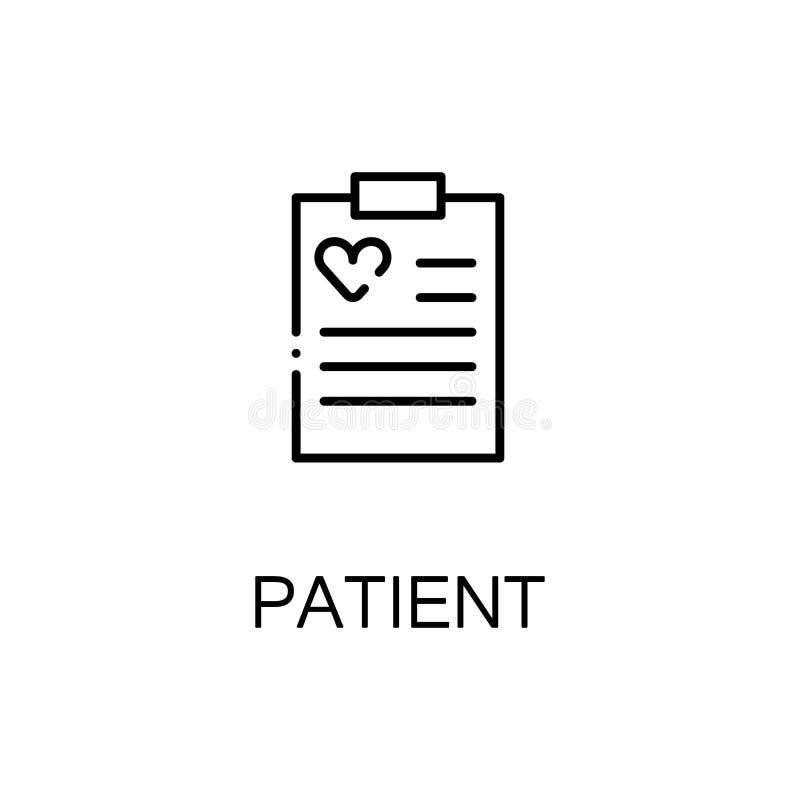 Ícone liso ou logotipo do cartão paciente para o design web ilustração do vetor