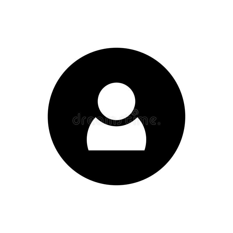 Ícone liso redondo da pessoa dos povos imagem de stock