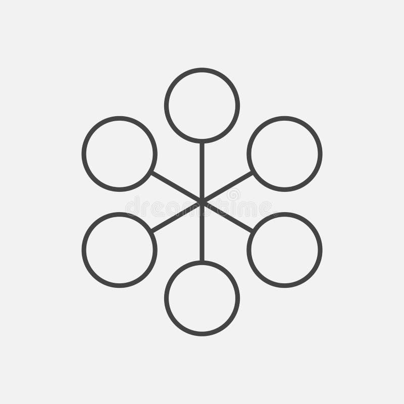 Ícone liso simples da estrutura Ilustração do vetor no backgro branco ilustração royalty free