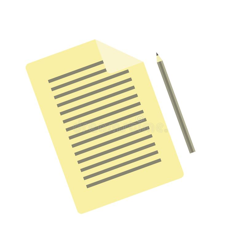 Ícone liso simples do lápis e de original ilustração royalty free