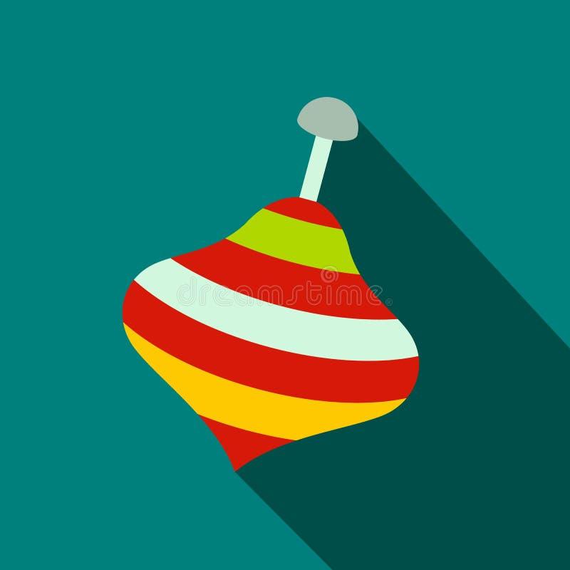 Ícone liso superior do giro do brinquedo ilustração royalty free