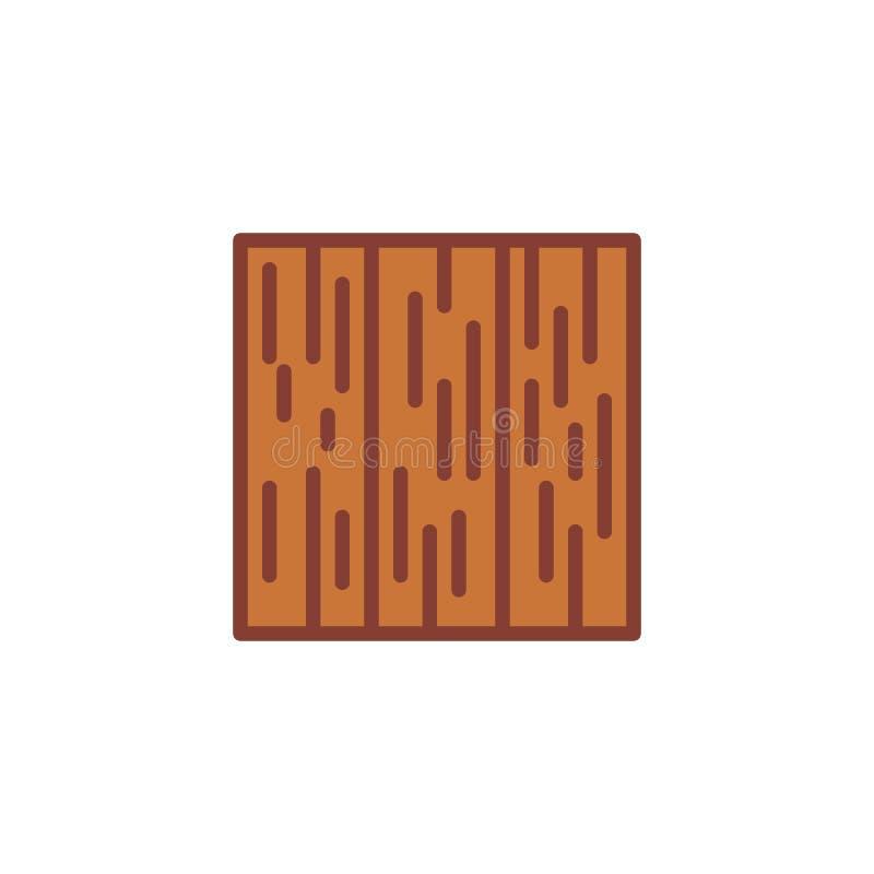 Ícone liso vertical do assoalho de parquet ilustração royalty free