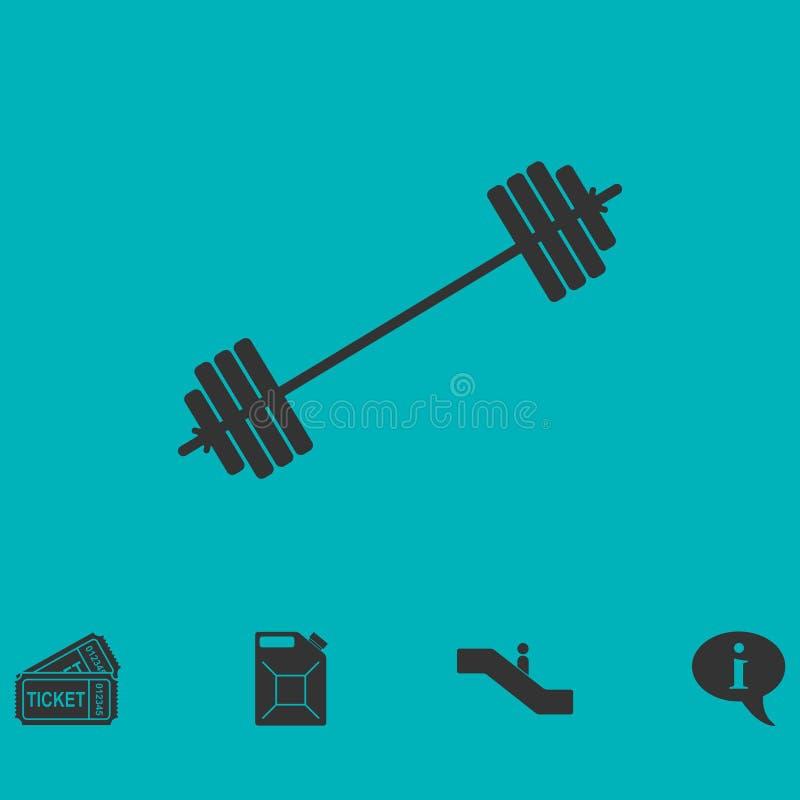 Ícone livre da barra transversal da engrenagem do cabo flexível horizontalmente ilustração do vetor