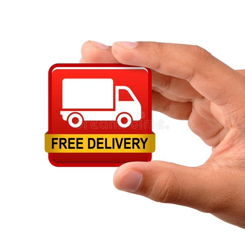 Ícone livre do caminhão de entrega imagens de stock