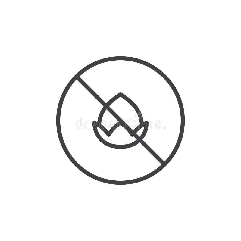 Ícone livre do esboço da porca ilustração do vetor