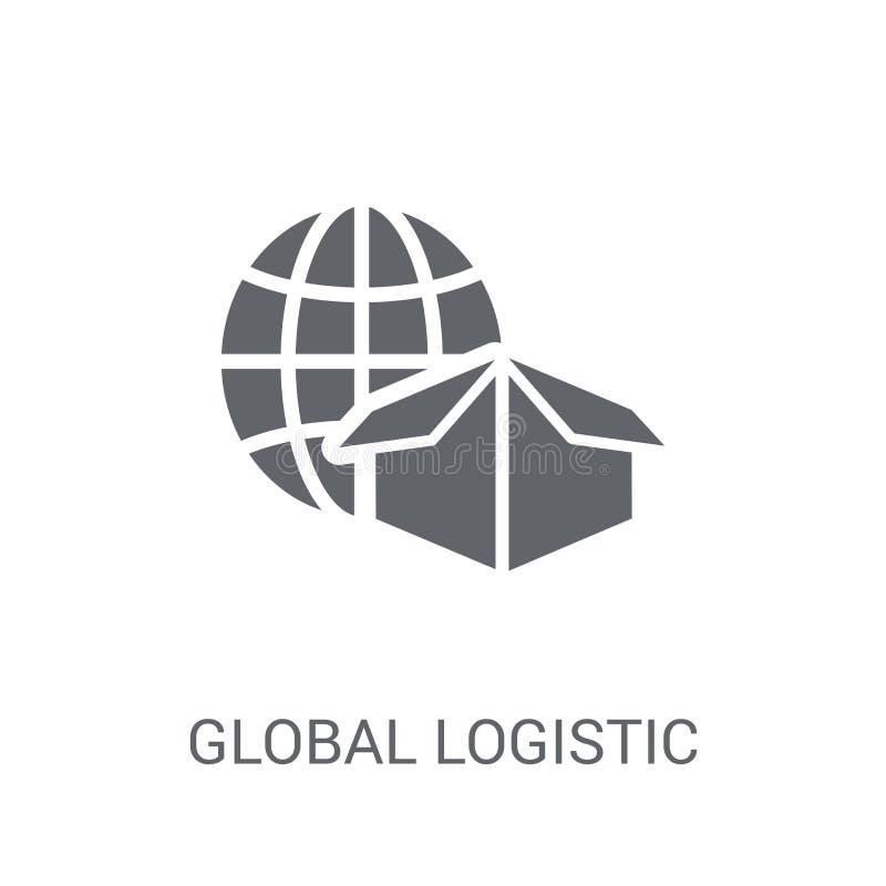 Ícone logístico global  ilustração do vetor