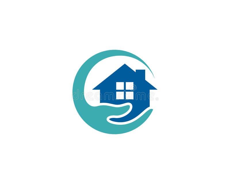 Ícone Logo Design Element da assistência ao domicílio da casa ilustração do vetor