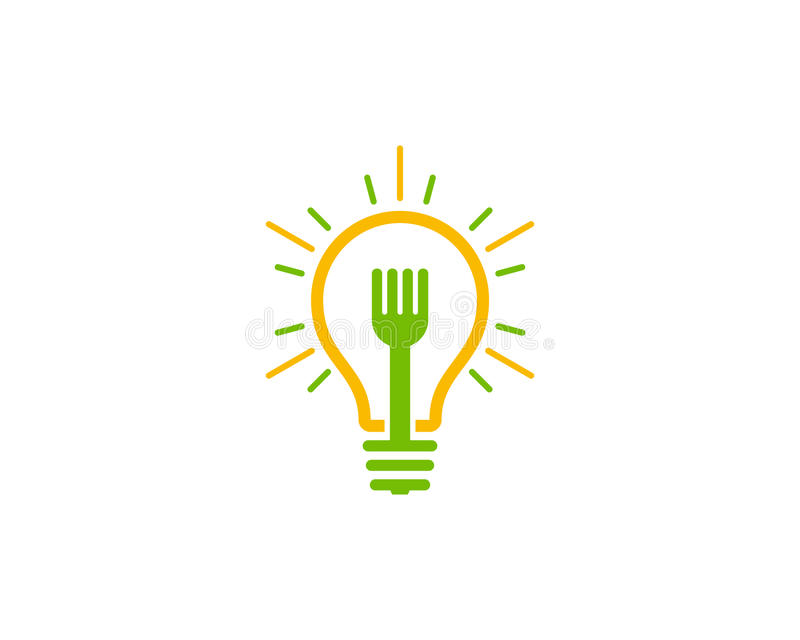 Ícone Logo Design Element da ideia do alimento ilustração royalty free