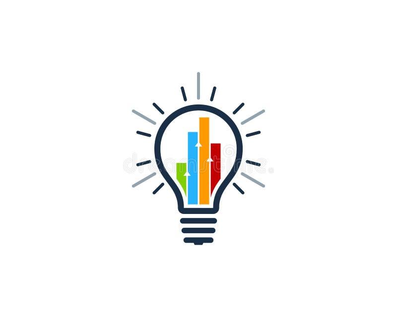 Ícone Logo Design Element da ideia do relatório do Stats ilustração stock
