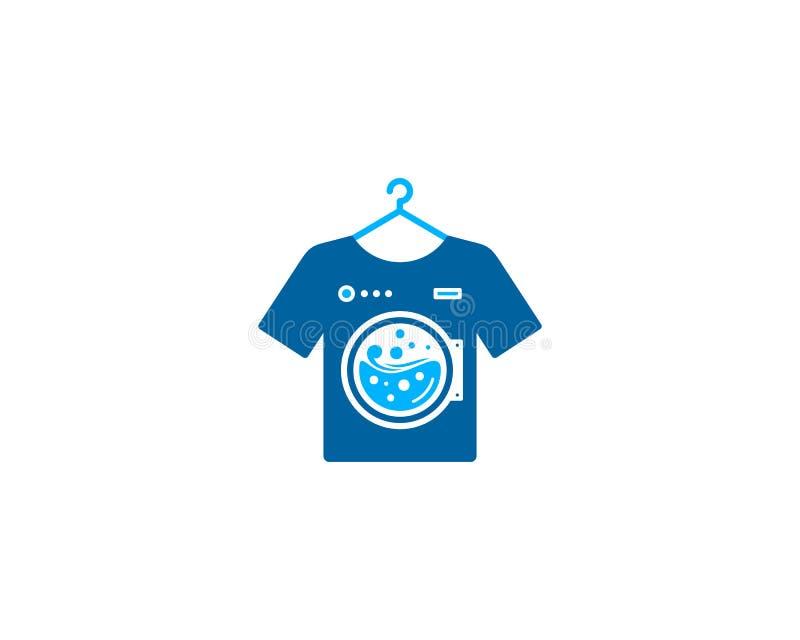 Ícone Logo Design Element da lavanderia ilustração do vetor