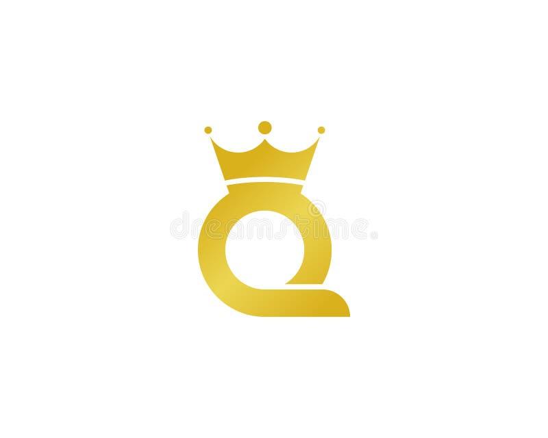 Ícone Logo Design Element da letra Q ilustração do vetor