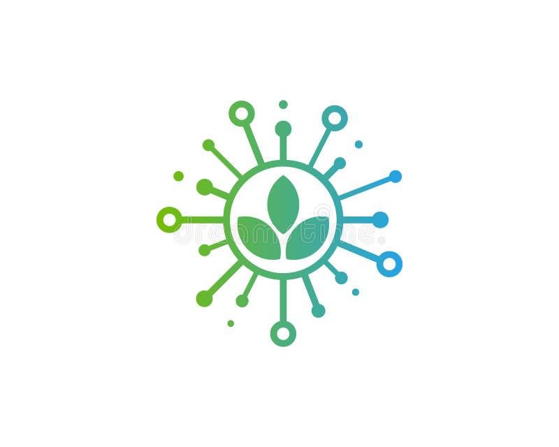 Ícone Logo Design Element da parte de Eco da natureza ilustração do vetor