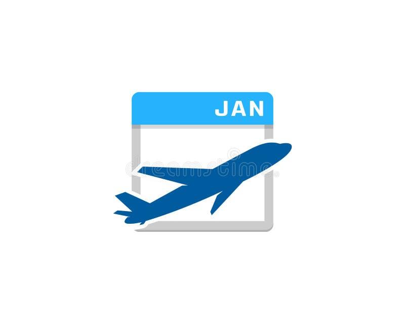 Ícone Logo Design Element do calendário do curso ilustração royalty free