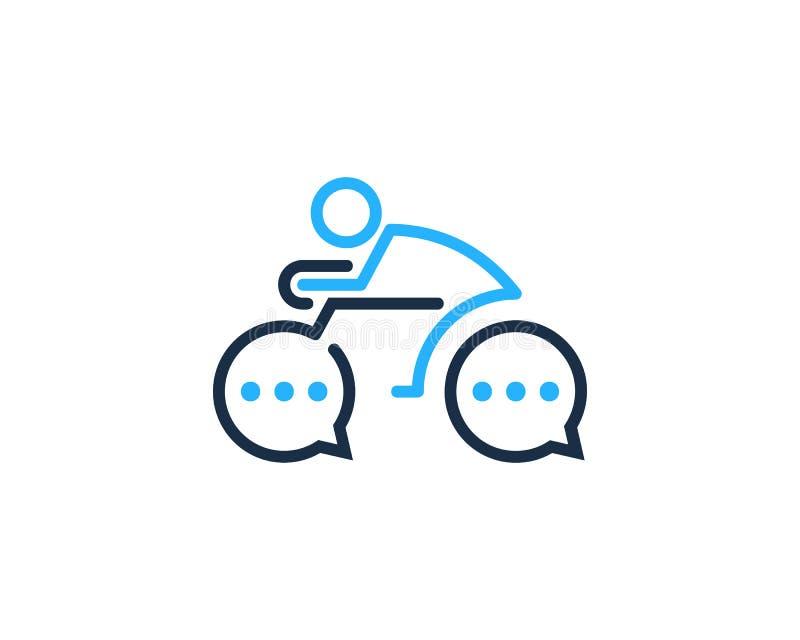 Ícone Logo Design Element do ciclo da bicicleta ilustração royalty free