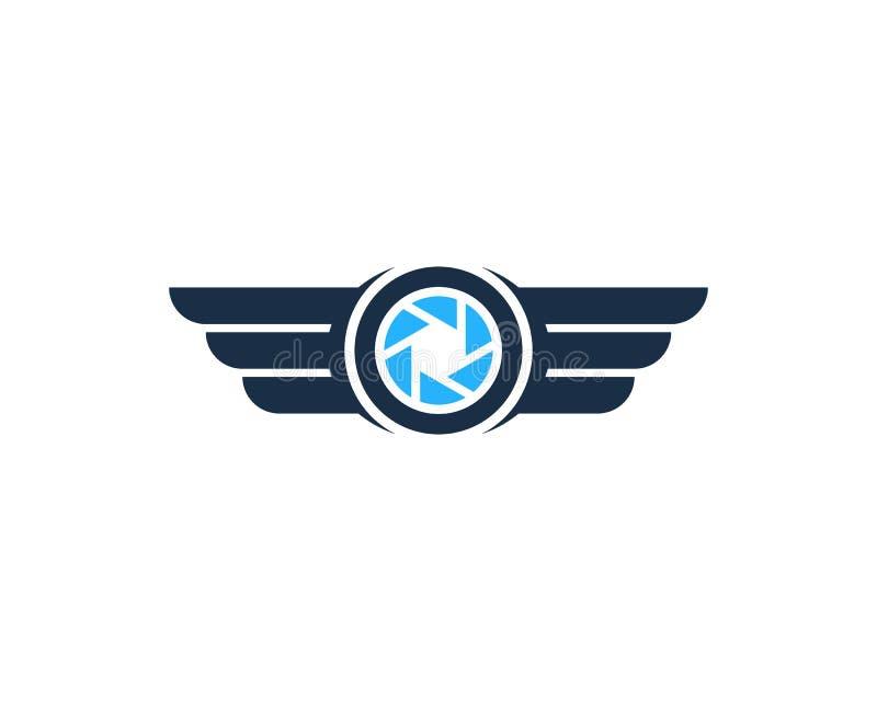 Ícone Logo Design Element do zangão da foto ilustração stock