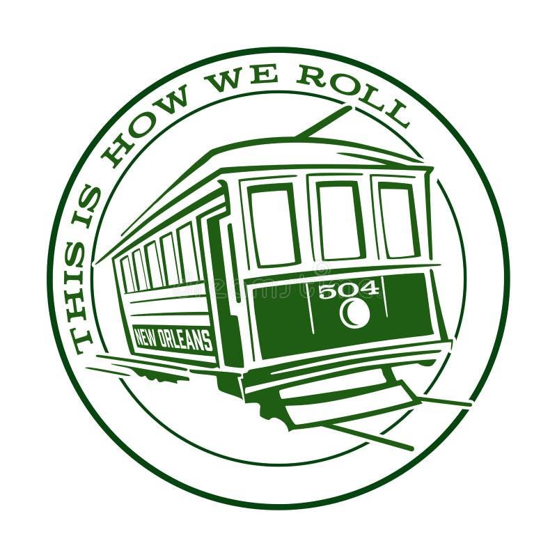 Ícone Logo Symbol do elétrico de Nova Orleães ilustração stock