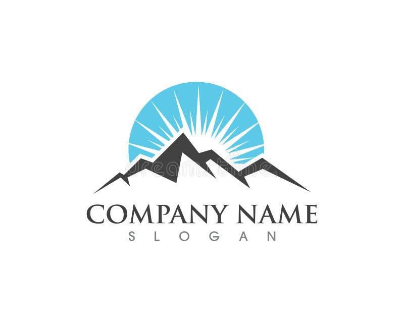 Ícone Logo Template da montanha ilustração stock