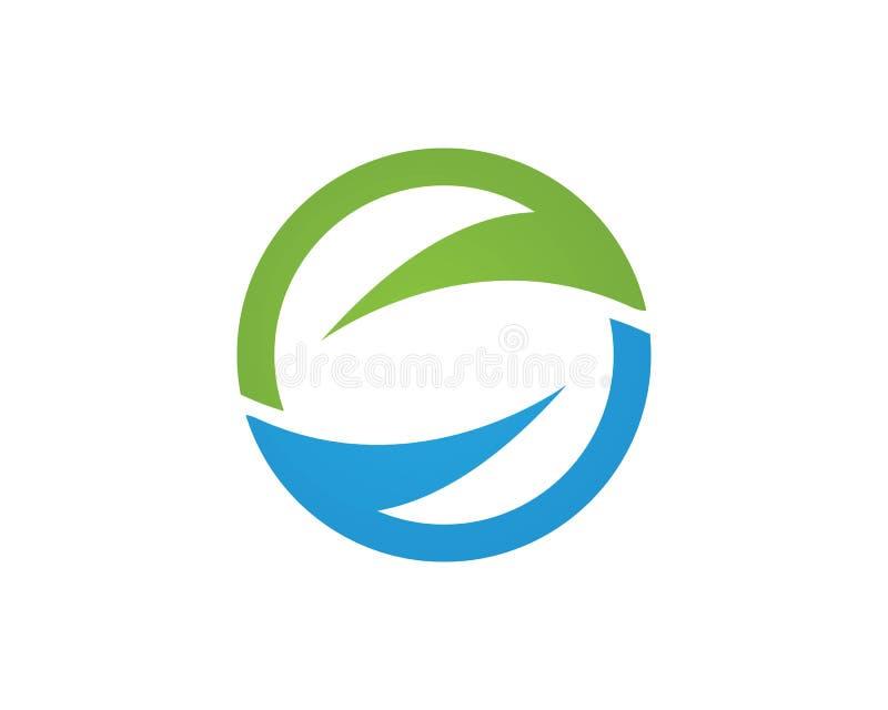 Ícone Logo Template da onda de água ilustração do vetor