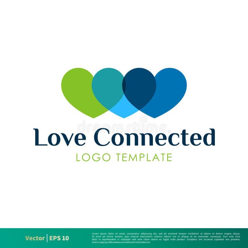 Ícone Logo Template Illustration Design do vetor do coração Vetor EPS 10 ilustração royalty free