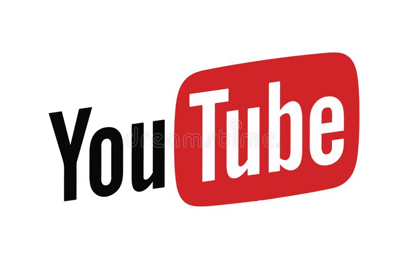 Ícone Logo Vetora Illustration de Youtube foto de stock royalty free