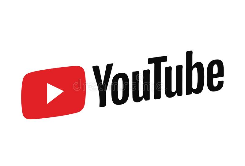 Ícone Logo Vetora Illustration de Youtube fotografia de stock