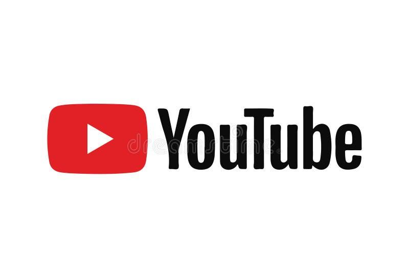 Ícone Logo Vetora Illustration de Youtube ilustração stock